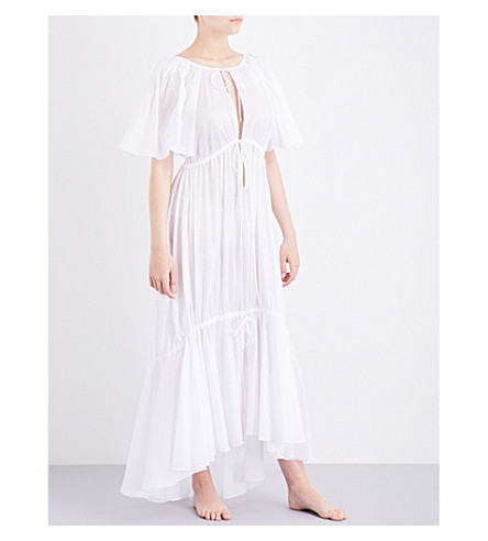 THREE GRACES LONDON Betsy cotton maxi dress (White