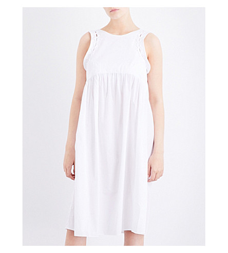 THREE GRACES LONDON Alexa cotton-poplin dress (White