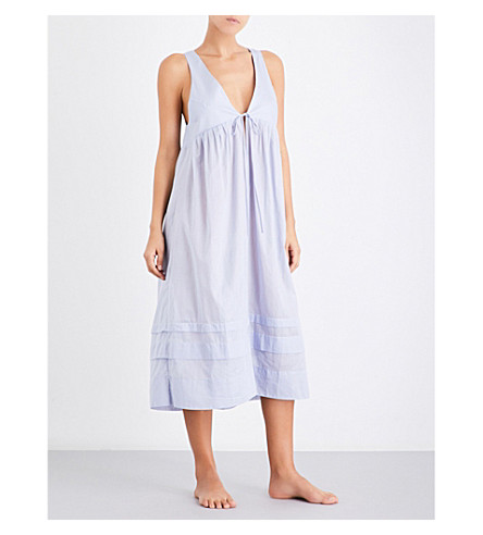 THREE GRACES LONDON Lidera cotton-voile nightdress (Lavender