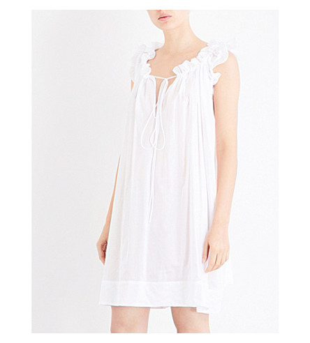 THREE GRACES LONDON Leonore cotton-voile nightdress (White