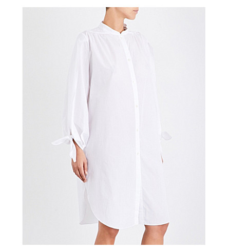 THREE GRACES LONDON Elaisa cotton-voile night shirt (White