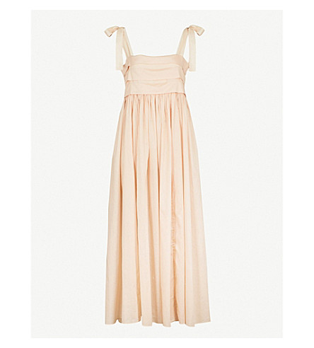 THREE GRACES LONDON Hortense cotton-voile nightdress (Sandstone+cotton