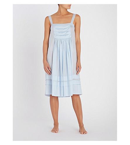 THREE GRACES LONDON Linton cotton-voile night dress (Blue