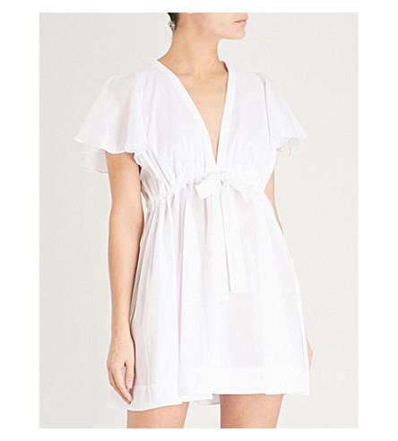 THREE GRACES LONDON Meg cotton-voile mini nightdress (White+cotton