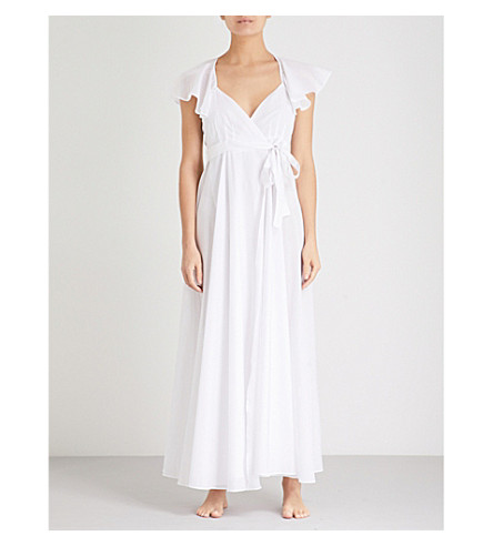 THREE GRACES LONDON Laurie cotton-voile nightdress (White+cotton