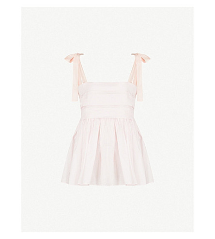 THREE GRACES LONDON Hortense cotton-voile pyjama top (Primrose+cotton