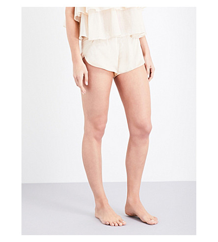 THREE GRACES LONDON Ariel silk shorts (Nude