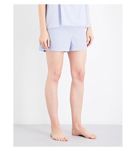 THREE GRACES LONDON Alcina cotton-poplin shorts (Lavender