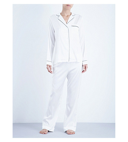 YOLKE Ivory stretch-silk pyjama set (Ivory