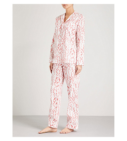 YOLKE Amour cotton pyjama set (Poppy+red