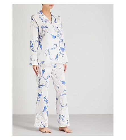 YOLKE Fortune Fish cotton pyjama set (Blue+white