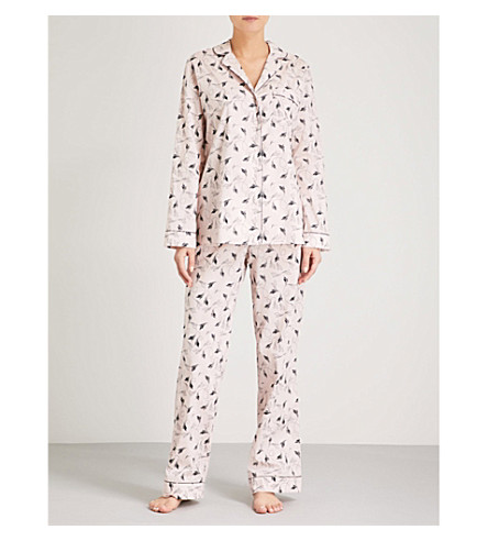 YOLKE Flapper cotton pyjama set (Blush+ink