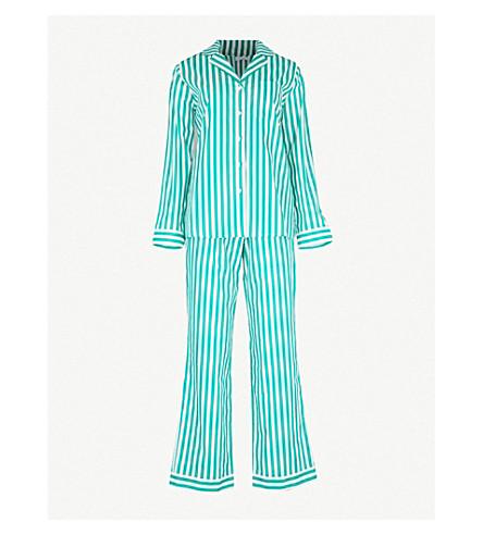 YOLKE Havana cotton pyjama set (Emerald