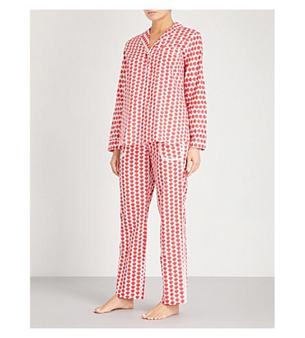 YOLKE Zigzag cotton pyjama set (Red+blush