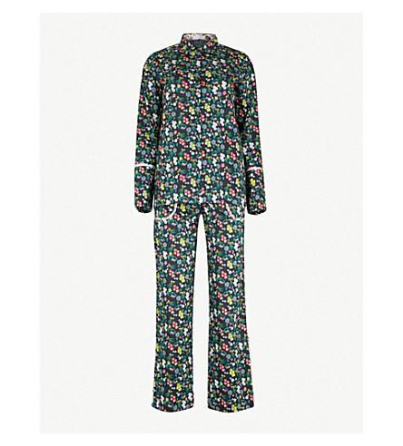 YOLKE Botanist cotton pyjama set (Botanist+black