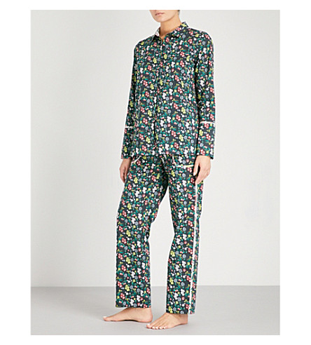 YOLKE Botanist cotton pyjama set (Botanist+black