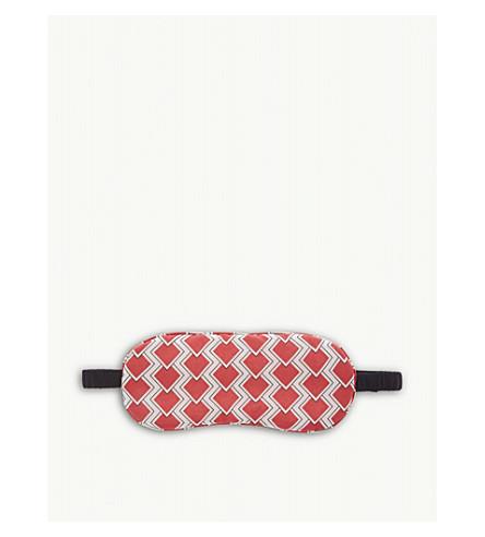 YOLKE Diamond pattern silk sleep mask (Red+blush