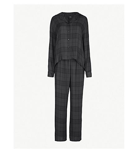 RAILS Check woven pyjama set (Onyx+jet