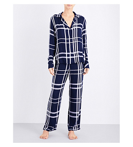 RAILS Checked woven pyjama set (Cadet+white