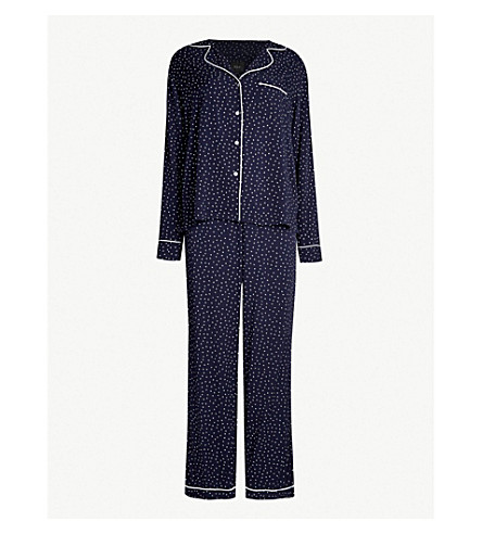 RAILS Heart-print jersey pyjama set (Navy mini hearts