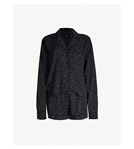 RAILS Cheetah-print cotton-blend pyjama set (Onyx cheetah
