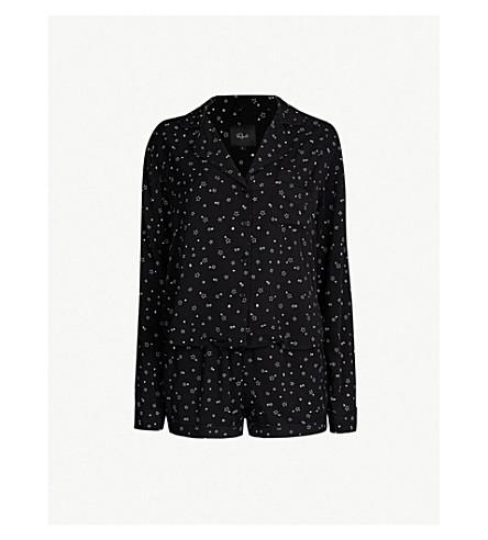 RAILS Star-print jersey pyjama set (Black scribble stars
