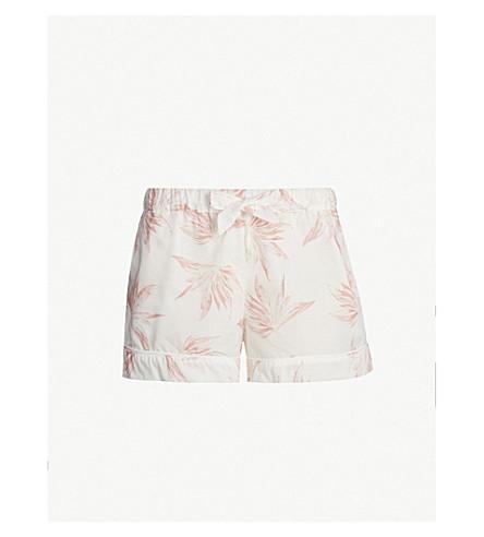 DESMOND AND DEMPSEY Deia cotton pyjama shorts (White pink