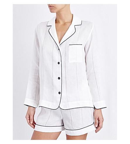MORPHO AND LUNA Cara linen pyjama set (Snow