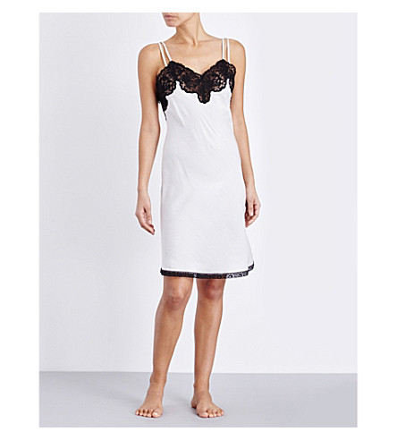 MORPHO AND LUNA Paris silk satin and lace nightdress (Snow
