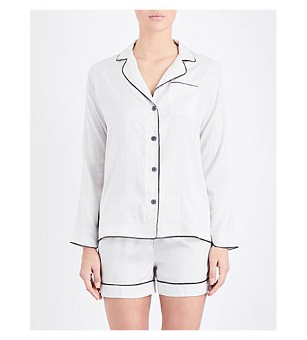 MORPHO AND LUNA Cara silk-poplin pyjama set (Snow