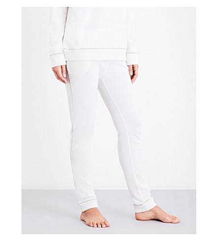 MORPHO AND LUNA Rose cashmere pyjama trousers (Snow