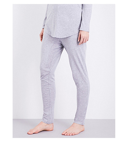 CHALMERS Alice bamboo and cotton-blend pyjama bottoms (Grey+marle