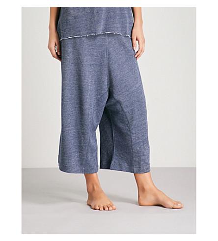 CHALMERS Britt woven pyjama bottoms (Plain+navy+marle