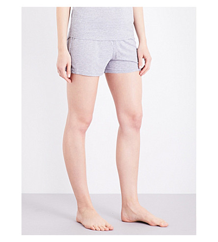 CHALMERS Elka bamboo and cotton-blend pyjama shorts (Grey marle