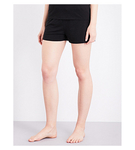 CHALMERS Elka bamboo and cotton-blend pyjama shorts (Black+marle