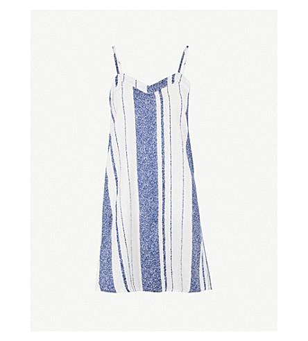 CHALMERS Henri cotton nightdress (Cous+stripe+navy