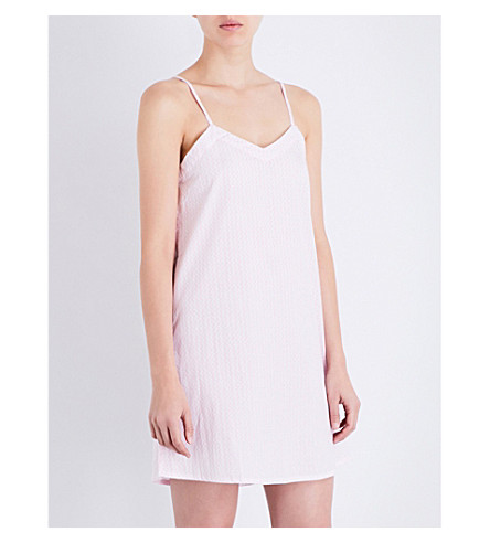 CHALMERS Henri cotton nightdress (Pink+weave