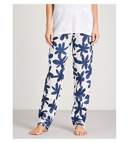 CHALMERS Audrey cotton pyjama bottoms (Paper+cut+flower+navy