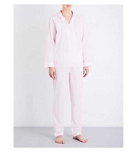 CHALMERS Frida cotton pyjama set (Weave+pink