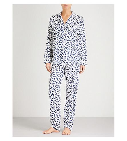 CHALMERS Frida cotton-jersey pyjama set (Pebbles+white+navy
