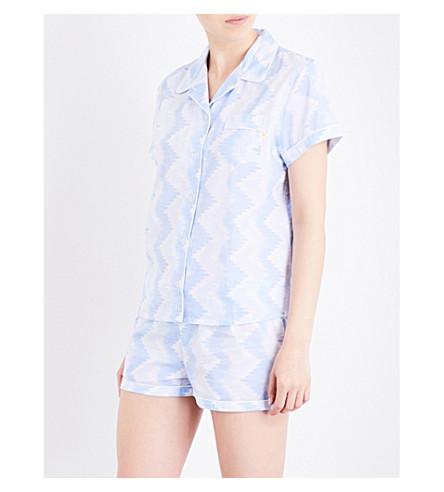 CHALMERS Peppy cotton pyjama set (Chevron+mid+blue