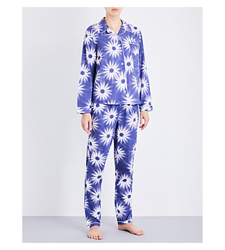 CHALMERS Amelie floral cotton pyjama set (Big+flower+navy