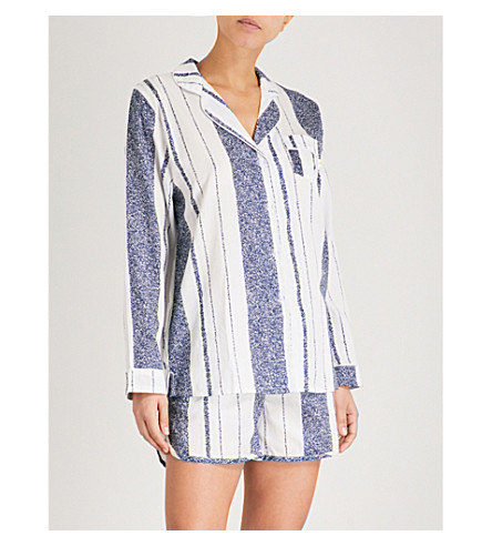 CHALMERS Suzie cotton-jersey pyjama set (Cous+stripe+navy