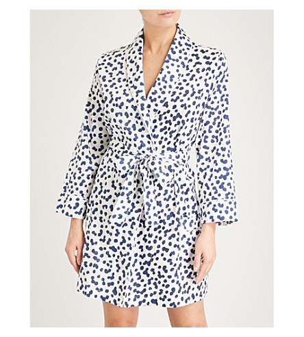 CHALMERS Camille cotton robe (Pebbles+white+navy