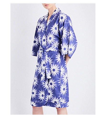 CHALMERS Margaux cotton robe (Big+flower+navy
