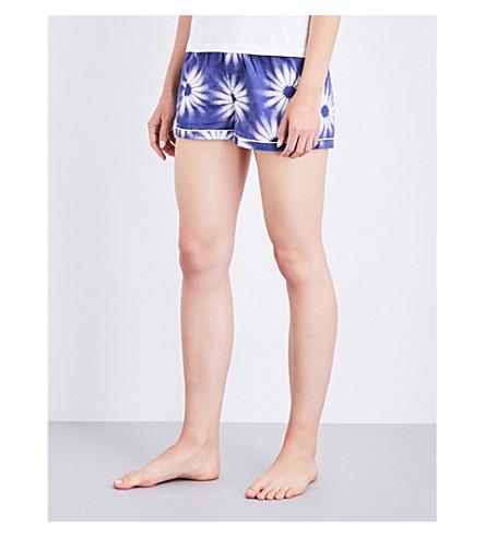 CHALMERS Addy cotton pyjama shorts (Big flower navy
