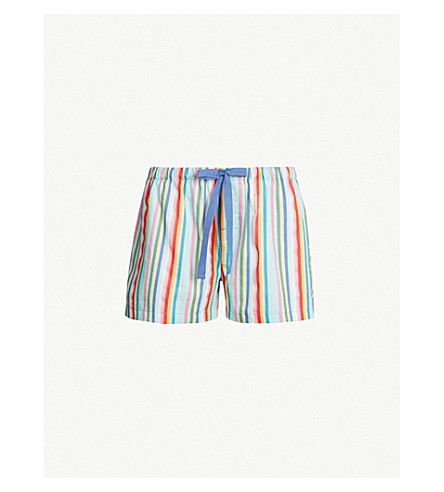 PETER ALEXANDER Striped cotton shorts (Bedtime stories