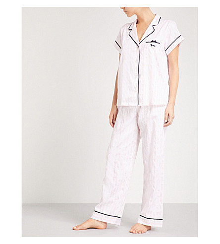 PETER ALEXANDER Bed Stories cotton pyjama set with eyemask (Pink