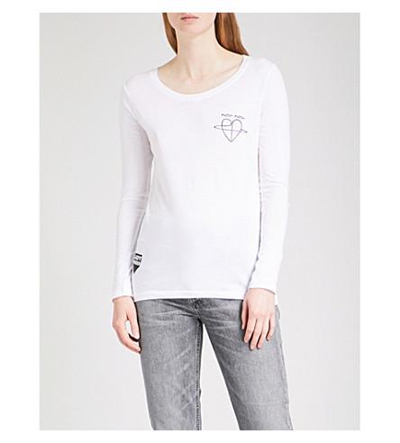 LADY GARDEN Cara Delevingne cotton-jersey top (Black+print