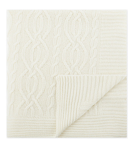 SOHO HOME Harrison wool-blend throw 177x127cm (Cream